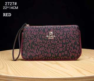 Bonia Wristlet Red Color