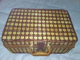 Rattan Picnic Bag
