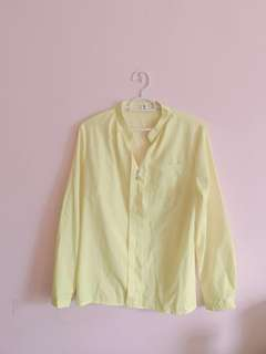 Blouse  / TOP / working wear with Long sleeve (yellow)