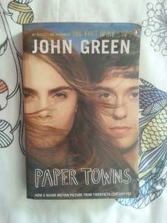Paper Towns (Movie Book cover)