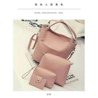 Fashion Korean Sling Bag 4 In 1