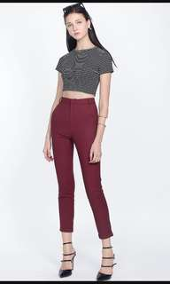 BNWT Fayth Citizen High Waisted Pants in burgundy