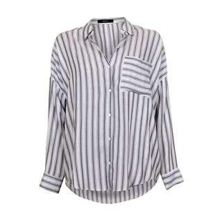 Decjuba stripes button up shirt black/white
