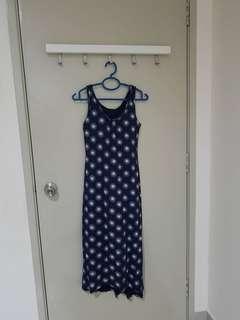 Preloved Uniqlo Bra Top Sleeveless Long Dress (2 pcs)
