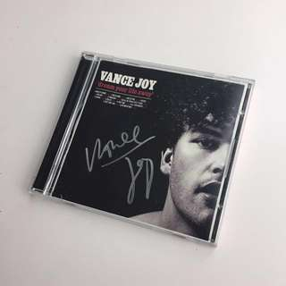Autographed Vance Joy CD Book Cover
