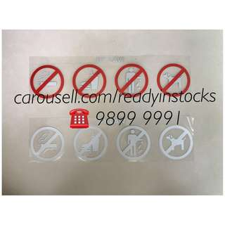 Toyota Hiace - Regiusace - Nissan NV200 - Nissan NV350 Van - Hi Roof - Mid Roof - Passenger Bus - Universal Commuter - 4 Warning Sign Sticker Decals / Toyota - Nissan Accessories