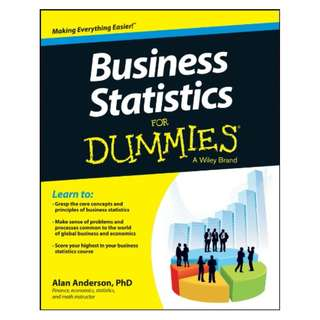 Business Statistics For Dummies Kindle Edition by Alan Anderson  (Author)