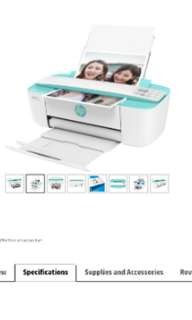 HP Desk Jet 3721 all-in-one printer