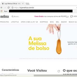 Melissa Shoes Brazil Site orders
