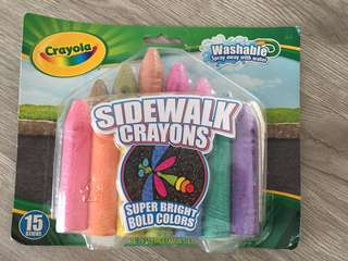 *NEW* Crayola Sidewalk / Outdoor Crayon Set