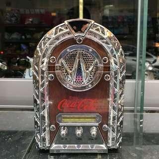 「早期1999年可口可樂收音機」 早期 古董 復古 懷舊 稀少 有緣 大同寶寶 黑松 沙士 鐵件 40年 50年