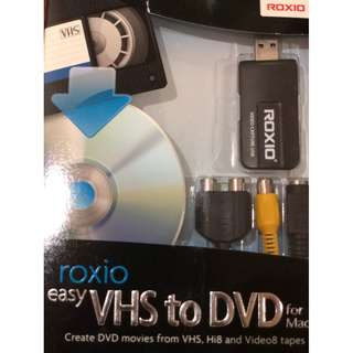 Roxio Easy VHS to DVD Burning and Video Capture for Mac