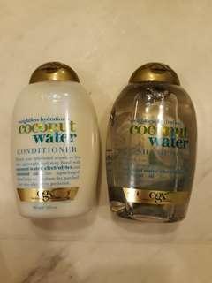 Ogx coconut water shampoo & conditioner