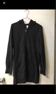 全新Uniqlo黑色拉鏈外套