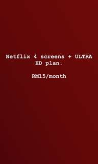 Netflix (Premium 4 screens + Ultra HD)