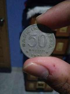 Koin 50 Rupiah 1971