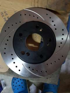 Cross drilled rotor vezel, civic, rc1 odyssey, cl7 accord, stream