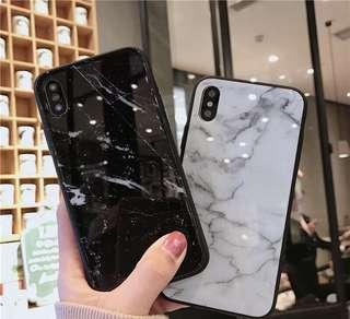 🚚 ✨大理石紋玻璃手機殼✨