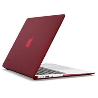 Macbook Air 13-inch Mid2013 SeeThru Red Speck Cover