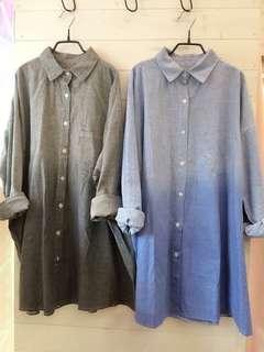 正韓條紋襯衫/外罩衫