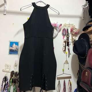 免運費 #歐美 全新 素色 黑色 洋裝