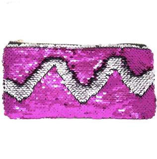 Sequin makeup / stationery pouch