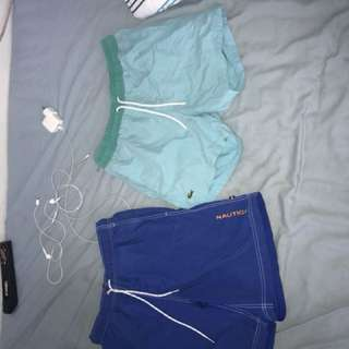 Nautica & Lacoste shorts $30