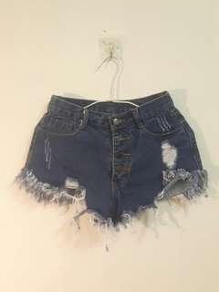 🚚 深藍性感牛仔短褲