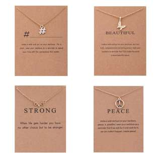 [In Stock] 2018 Meaningful European Style Necklaces