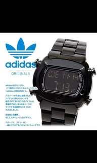 Adidas Originals Digital Watch Black Chrome
