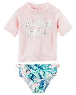 BNIB Baby Girl Swimsuit set 6-9M