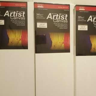 """Bundle Sale: 3 pieces of KCK Artist canvases 14"""" x 18 """"x 4"""""""
