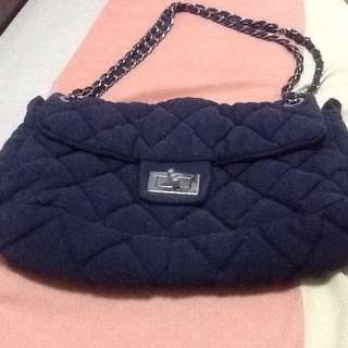 Gucci inspired bag-navy blue