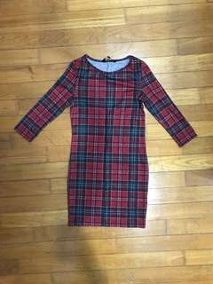 New Look grid checkered dress