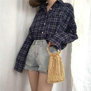 Checkered Blouse/outerwear