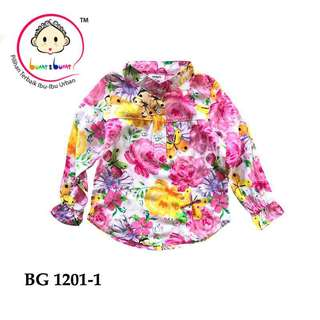 Floral Top kemeja kids girls
