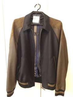 NEW LV LOUIS VUITTON MIXED LEATHER JACKET