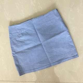 Light denim skirt