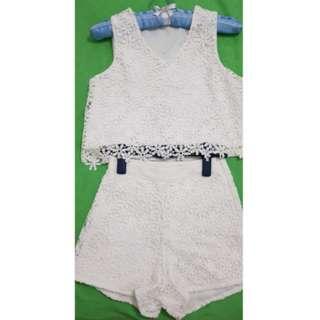 Lace Crop Top & Pants