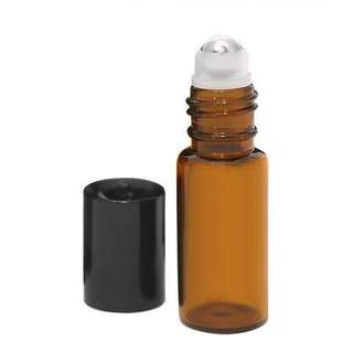 Essential Oil Glass with Stainless Steel Roller Bottle