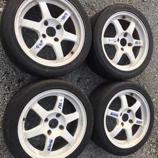 Volk te37 white Japan 16 inch rim
