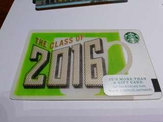 Starbucks Card Class of 2016 U.S.A