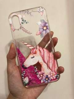 Iphone case 獨角獸閃閃手機殼 Iphone X