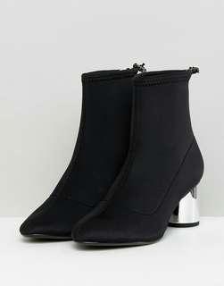 Bershka black sock boots
