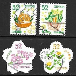 2017年日本信銷郵票 G152 春季的問候 52円 4全
