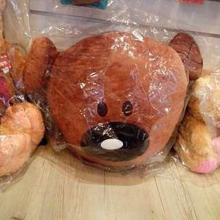 豆豆熊頭型抱枕 豆豆先生 泰迪