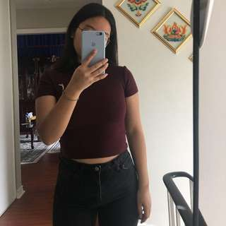 American apparel maroon top