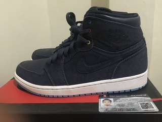 Nike Air Jordan 1 Retro Family Forever Denim not Air Max NMD Kobe Lebron Kyrie Kidd Penny