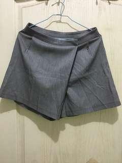 韓版高腰顯瘦不對稱A字褲裙