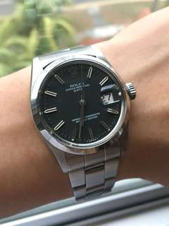 RARE vintage Rolex DATE 1500 with matte black dial